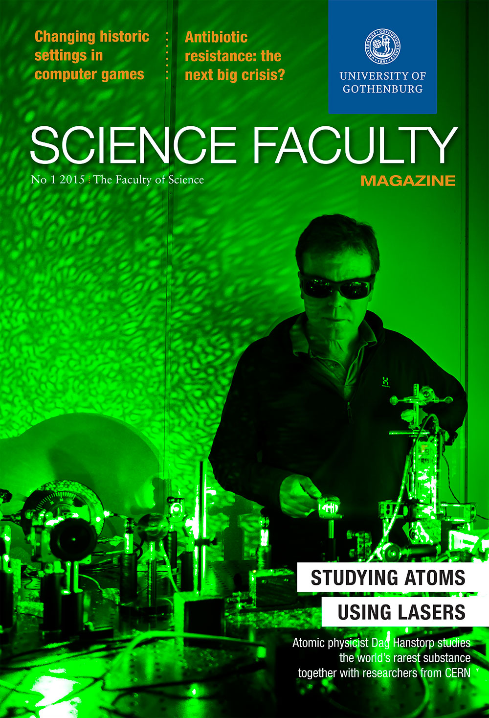 Cover of Science Faculty Magazine Issue 1 2015