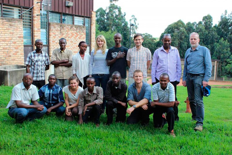 The local research team at the University of Rwanda.