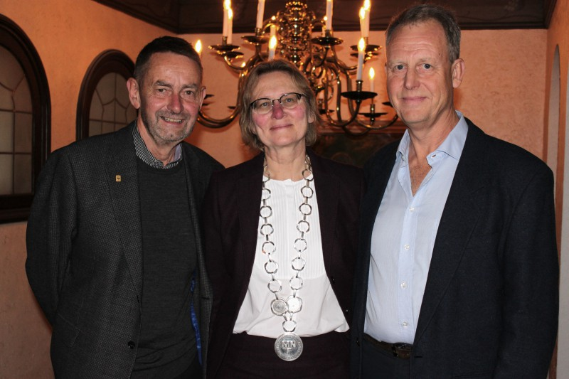 Axel Wenblad with Dean Elisabet Ahlberg and promotor Kjell Nordberg